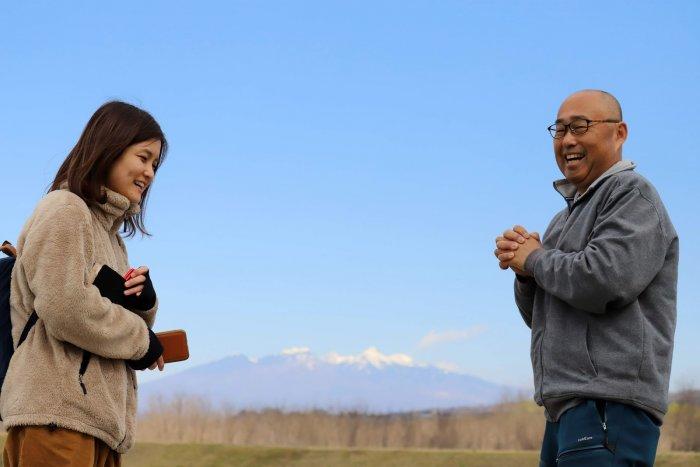 韮崎の発掘調査についての取材