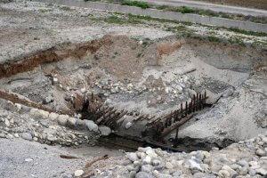 堤防基礎部分の調査