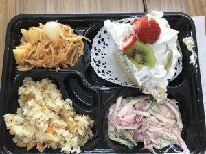 適応指導教室でご飯を作った際の写真