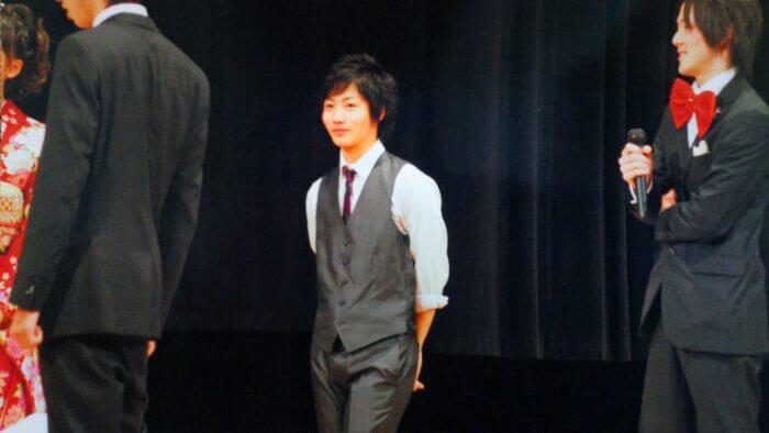 2011年に成人式実行委員長を務めた西田の写真