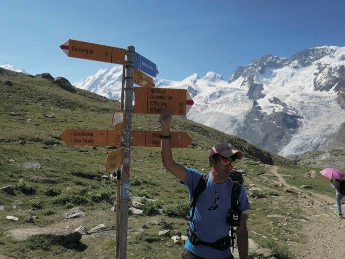 杉本さんがスイスでガイドをしていた頃の写真