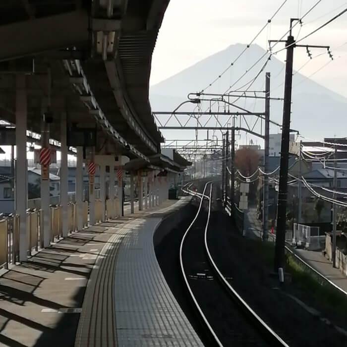 韮崎駅からの風景