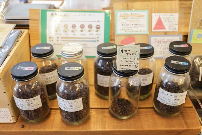 さまざまな種類の豆の写真