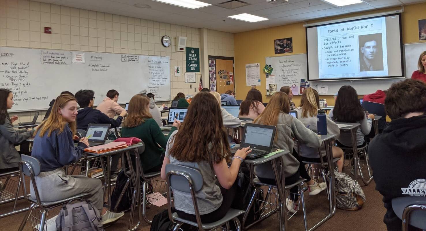 アメリカの高校の授業風景