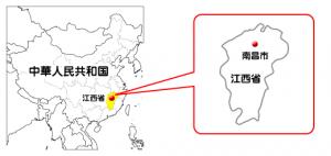 南昌市の地図